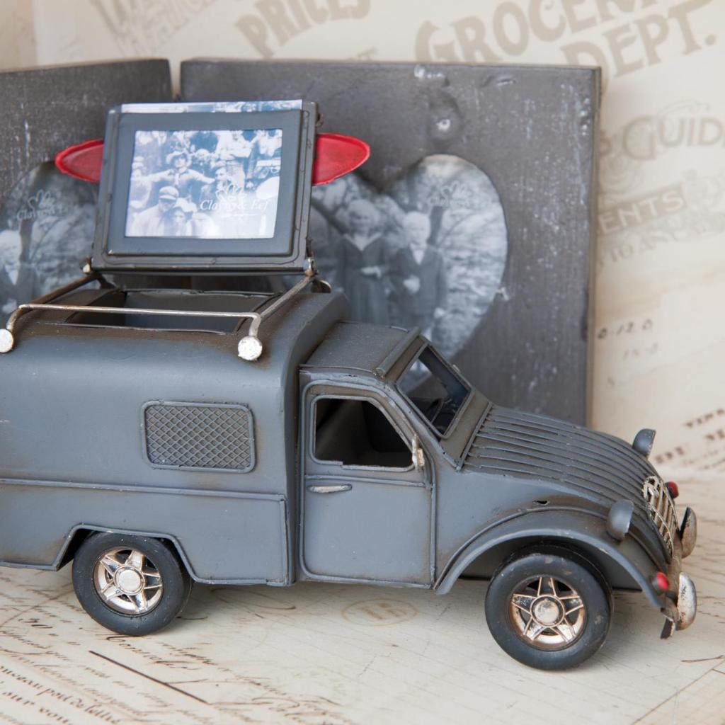 Fotolijst en pennenbak model auto 20x8x13cm 6Y1200 Grijs Metaal ...
